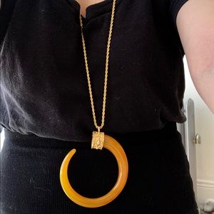 """Kenneth Jay Lane 32"""" Chain Horn Necklace"""